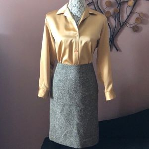 Lafayette 148 Lined Tweed Pencil Skirt Size 2